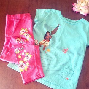 Disney Moana Outfit with Flower Pant Disney and Re